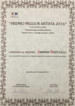 pergamena_miglior_artista_sabrina_bertolelli