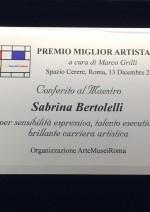 targa_miglior_artista_sabrina_bertolelli